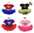 Baby Superhero Girl Tutu Fancy Party Outfit Dress Costume
