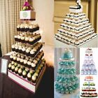 3 4 5 6 7 Tier Crystal Clear Acrylic Square Wedding Cupcake Stand Display Tower