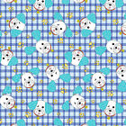 JOEY THE SHOP DOG BLUE CHECK BENARTEX QUILT SEWING FABRIC *Free Oz Post