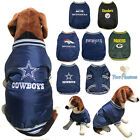 NFL Fan Gear Dog Warm Embroidered Jacket Coat w/ Pockets for Dogs-PICK YOUR TEAM