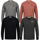 mens long sleeved top jersey Tokyo Laundry crew neck marl casual fashion new