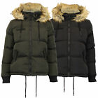 ladies jacket Brave Soul womens coat hooded padded sherpa fleece fur winter new
