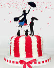 Mary Poppins Penguins Bert Chimney Sweep Card Double sided party Cake Toppers