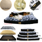L XL XXL XXXL DOG BED REMOVABLE ZIP COMFY COVER WASHABLE PET BED CUSHION JUMBO