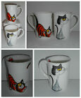 BN Boxed Fine Bone China Cat Mugs, Hand - decorated, Uk Seller, great cat gift