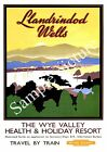 The Wye Valley : Vintage Rail Travel advert , Wall art , poster, Reproduction.