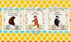 WACKY ANIMALS ON BIKES COASTER - MR BEAR, MR FOX, or MR BADGER - SASS & BELLE!