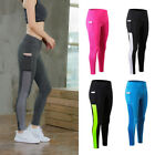 Womens Sports Athletic Leggings With One Pocket Fitness Running Jogging Jeggings