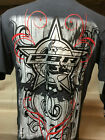 New Mens Oficial PBR Western Wear Cowboy Rodeo T-Shirt Brown