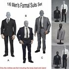 "1/6 Scale 3 Colors Men's Formal Suits Clothes Set For 12"" Male Figure Body Toys"