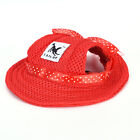 summer baseball cap canvas puppy small pet dog cat visor hat outdoor sunbonnetRS