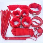 Unisex - 7PcsSet Adult Sex Toy SM Handcuffs Cuffs Strap Whip Rope Neck Cosplay Bandage