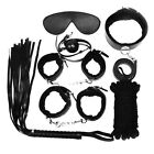 Unisex - 7PCS Handcuffs Cuffs Strap Whip Rope Neck Cosplay Adult Sex Toy SM Set