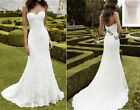 Mermaid Sweetheart White / Ivory Lace Wedding Dress Bridal Gown STOCK Size 4-16