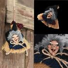 Halloween Party Wooden Witch on a Broom Hanging Party Lamp Ornament Decoration M