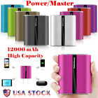 Portable External 12000mAh Power Bank Dual USB Battery Charger For Mobile Phones