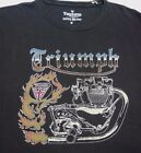 Triumph Lucky Brand Official Fire Engine Motorcycle Tee Shirt Size  M NWT $14.99 USD