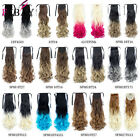 """Fashion 22"""" Wrop Around Synthetic Ponytail Hair Extensions Ombre Color 100g"""