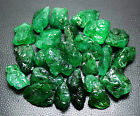 1 TO 5 CT. SIZE BEAUTIFUL RICH GREEN NATURAL EMERALD ROUGH GEMSTONE LOT.