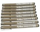 Artline Drawing System Graphic Design Pen Marker 0.05, 0.1-0.5 0.7 0.8 mm. Black