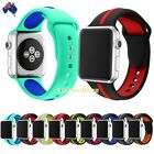 Dual Silicone Bracelet Wrist Sport Band Strap For Apple Watch 38mm/42mm
