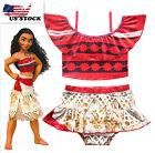 Внешний вид - Cute Girls Toddlers Moana Swimsuit Swimwear 2pc Set Bathing suit Bikini K81