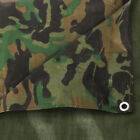 Strong Camo Camouflage Tarpaulin Army Waterproof Camping Ground Sheet & Outdoor  <br/> Camo Tarp with Eyelets - Various Sizes Available