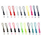 20x EDC Zipper Pulls Slider Cord Rope Puller Ends Lock Zip Clip Buckle For Bag