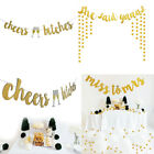 Cheers Bitches Gold Bachelorette Decorations Hen Party Bunting Banner Love 1pcs