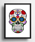 Inspirational DECORATIVE Pattern SKULL Quality Poster Print Typography wall Gift