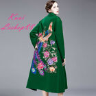2017 Autumn Winter New Retro Women Embroider National Wool Fashion Floral Coat