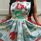 Ariel Mermaid Apron Retro Ruffle Vintage Fabric Dinner Party Hostess Kawaii
