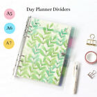 6 Pcs Set Floral Design Personal Planner Dividers Filiofax Binder Tabs A5/a6/a7