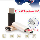 USB 3.1 Type C USB-C Adapter to Micro USB Mini Female Google S8 Sumsung QC