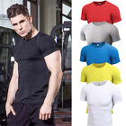 Mens Athletic Compression T Shirts Dri Fit Sports Running Gym Plain Tee Stretchy