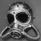 Halloween Party Gas Mask Metallic Silver Steampunk Cosplay Costume Party Unisex