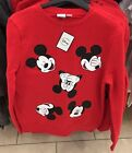 Disney Mickey Mouse  Red Jumper  Women's S-xl