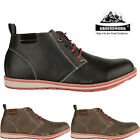 NEW MENS CASUAL ANKLE HIGH LACE UP BOOTS FORMAL CHELSEA FASHION SHOES TRAINERS