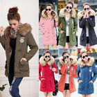 Womens Warm Coat Fur Collar Hooded Jacket Slim Winter Parka Outwear Coats GIFT