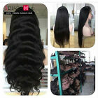 Glueless Brazilian silky straight/Body Wave100% Human Hair Full Lace/ Front Wigs