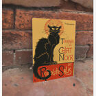 Le Chat Noir French Black Cat  VINTAGE ENAMEL STYLE METAL TIN SIGN WALL PLAQUE