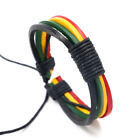 Jamaican reggae Jesus bracelet leather handmade multilayer bracelet