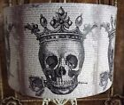 Gothic Skull Lampshade, Royal Crown rose, vintage grunge,shabby chic, Free Gift,