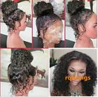 Pre Plucked Black Human Hair curly Lace Front Wig Full Wigs with  Baby Hair