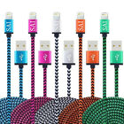 Long 6 Ft Braided Lightning To Usb Charger Cable Cord For Iphone 5/6/6s/7plus