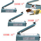 Metal Impulse Heat Sealer Sealing Machine Plastic Bags 200mm 300mm 400mm Flim UK