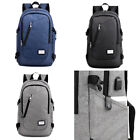 Men Polyester Solid Big School Book Backpack for Teenager (USB Charge Interface)