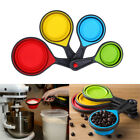 Silicone Healthy Measuring Cups Spoon Kitchen Collapsible Baking Cooking Tools