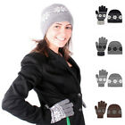 Ladies Nordic Winter 2-Piece Hat & Glove Set in 6 Colors