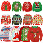 Unisex UGLY CHRISTMAS SWEATER Vacation Santa Elf Funny Womens Men Sweatshirt
